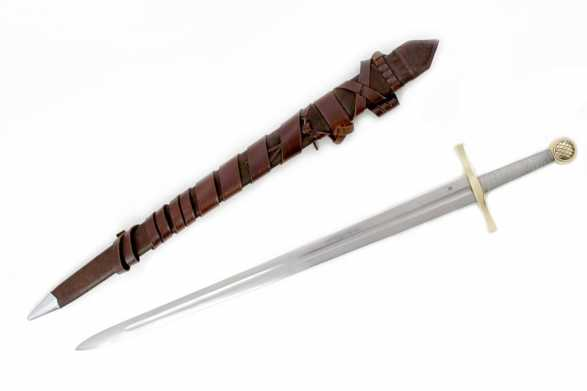 Darksword 1524 - Excalibur Sword* (sharpened & deluxe scabbard)