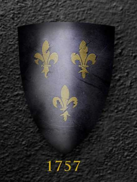 Darksword Armory Medieval French Royal Shield # 1757