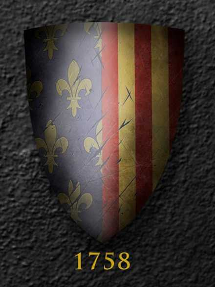 Darksword Armory Medieval French Artstocratic Shield # 1758