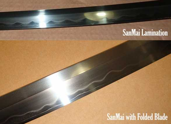 Custom sanmai lamination option for Custom laminations