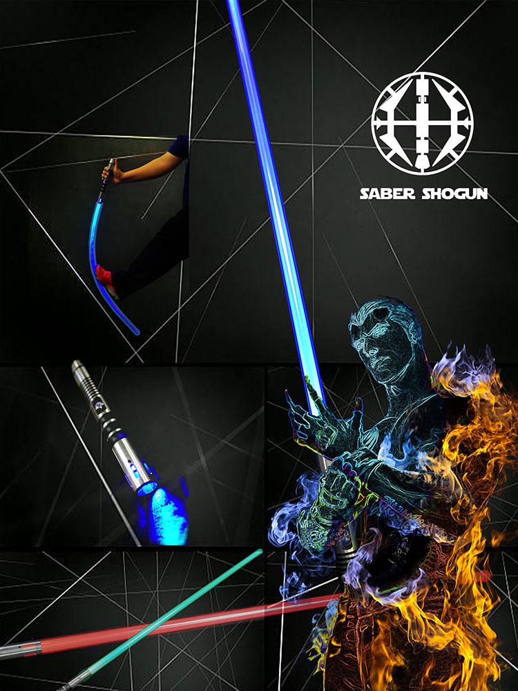Saber Shogun Light Sword (Soundless) - Blue Jedi Guardian 2