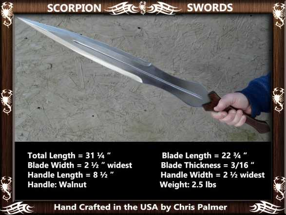 Scorpion Swords Achilles Sword