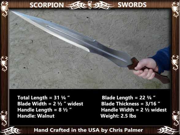 Scorpion Swords Achilles Sword