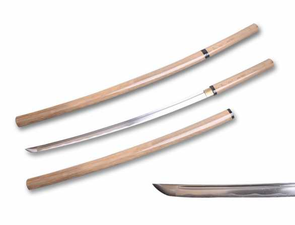Ryujin 1045 Carbon Steel Natural Wood Shirasaya