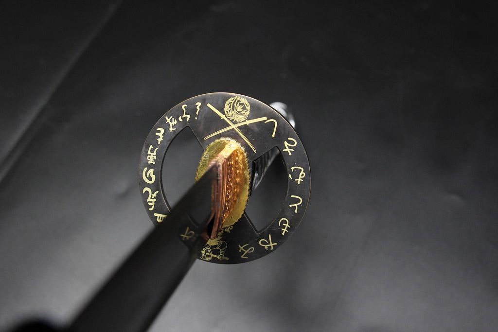 Ryujin 1045 Carbon Steel Gold Dragon Art Sword 6