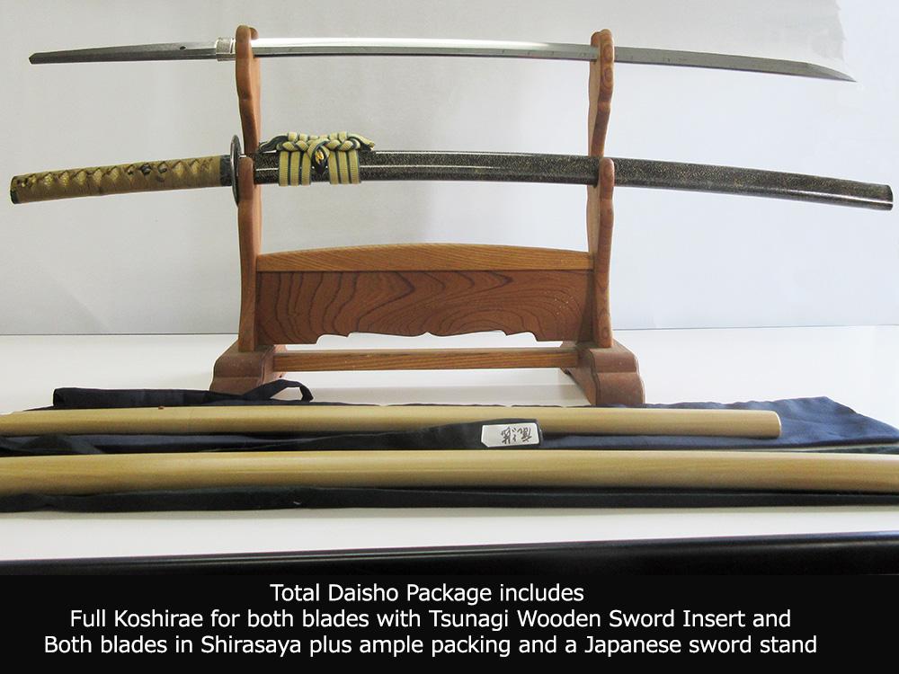 BoJ Daisho Set #001: Antique Mid Edo Period Katana and Wakizashi 33041/3040 1
