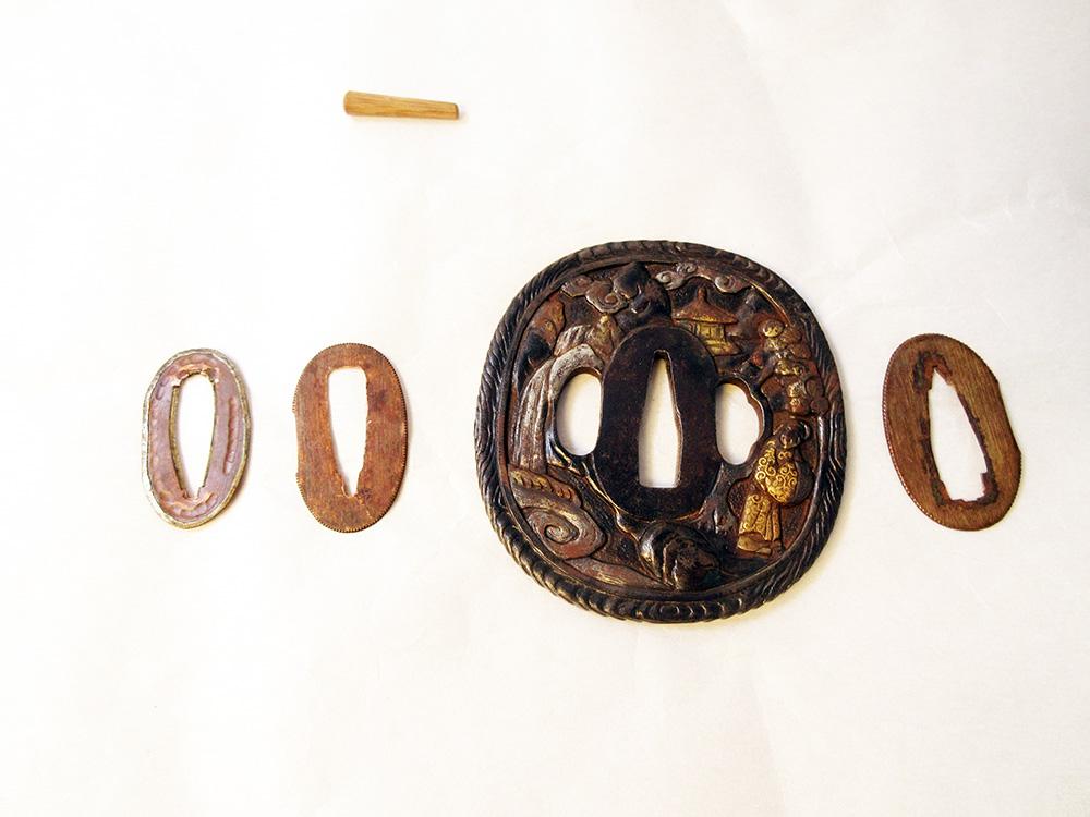 BoJ Koshirae #001: Antique Edo Period Sword Fittings (no blade) 8