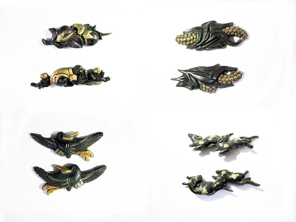 BoJ Menuki Collection #001: 25pcs Antique Edo Period 5