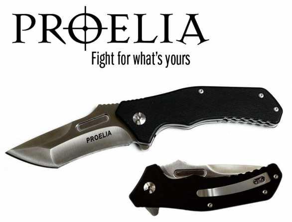 Proelia D2 Steel Tanto Folding Knife
