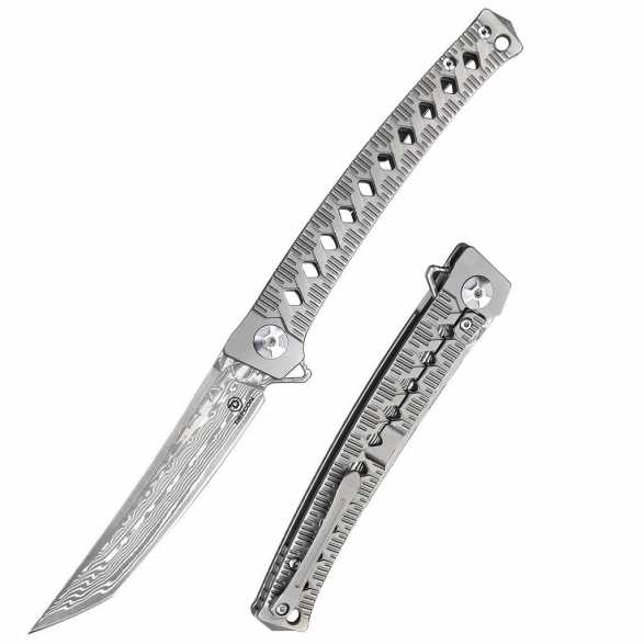 DEFCON 10Cr15CoMov Damascus Blade