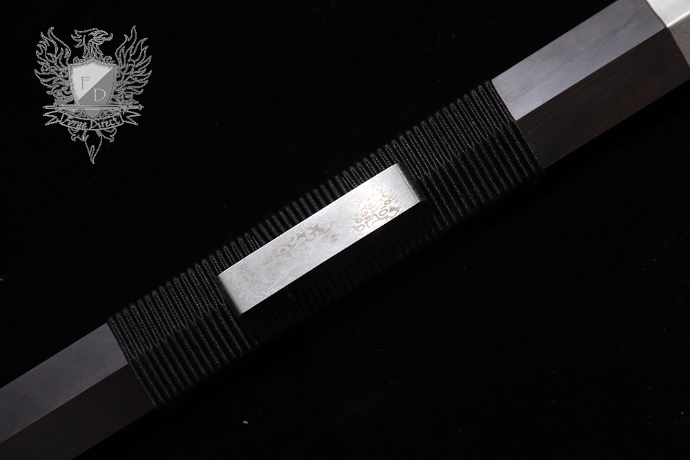 Forge Direct Silver Damascus Windsteel Sword 11