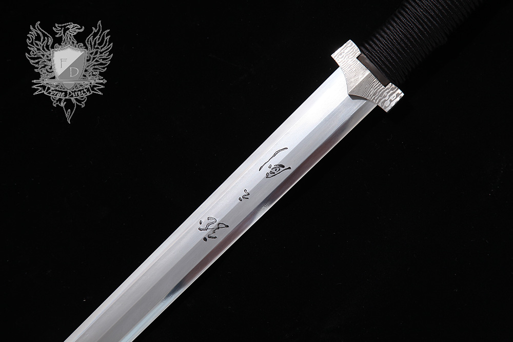 Forge Direct Silver Damascus Windsteel Sword 4