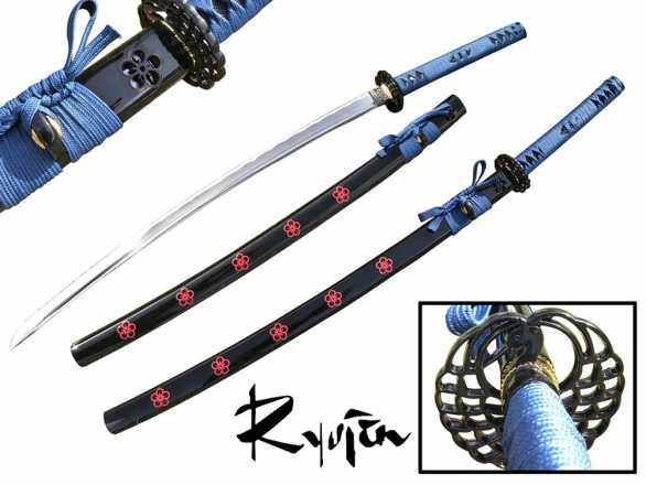 Ryujin 1045 Carbon Steel 'Blue Sakura' Art Sword