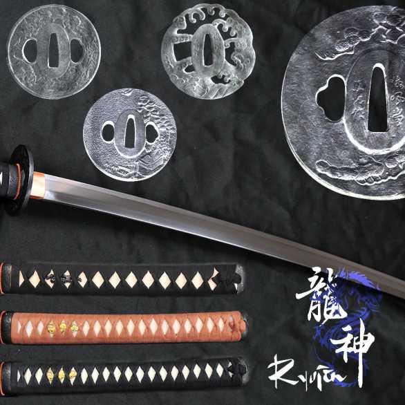 Ryujin 5160 Spring Steel Katana ELITE - Suguha Hamon