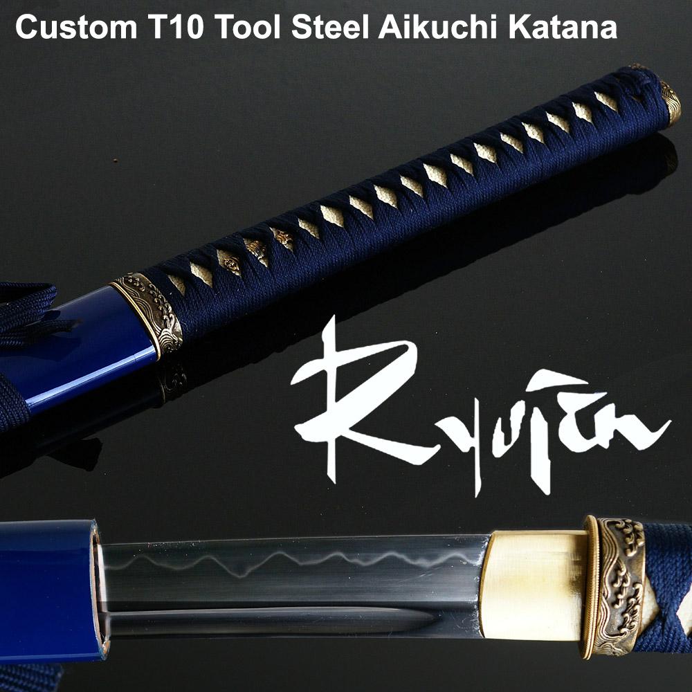 Ryujin T10 Custom Katana - Aikuchi