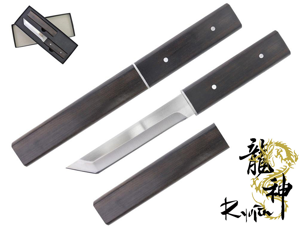 Ryujin 4CR14 Steel Tactical Tanto Black Shirasaya